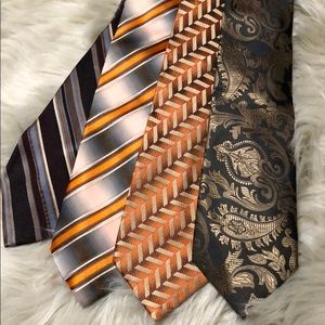 Orange/brown neck ties